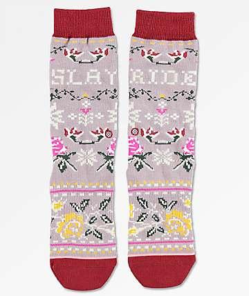 Stance Slay Ride Lavender Tomboy Lite Crew Socks