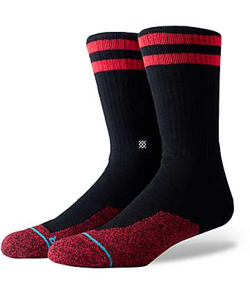 Stance Southbank Black & Red Crew Socks