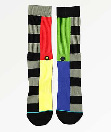 Stance Split Checker Black Crew Socks