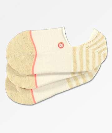 Stance Uncommon paquete de 3 calcetines invisibles blancos