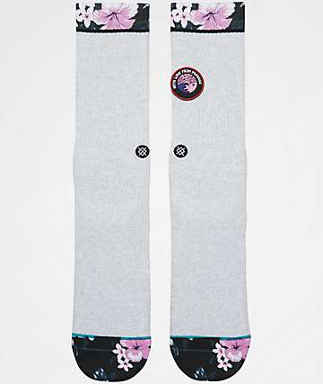 Stance With Love Grey Crew Socks