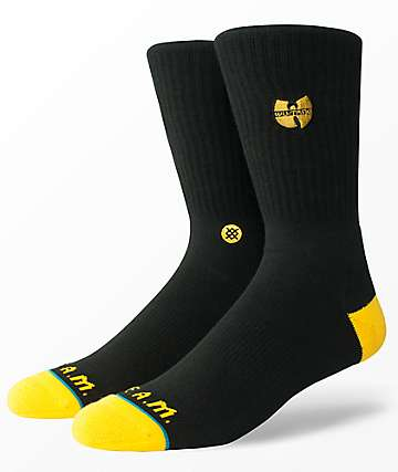 Stance Wu Tang Patch Black Crew Socks