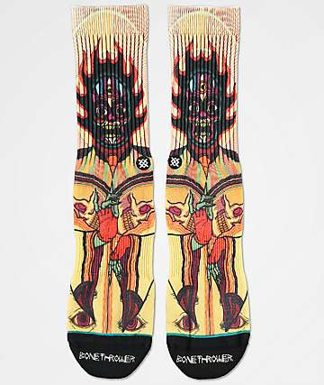 Stance x DROPOUT CLUB INTL. Muerto Bonethrower Crew Socks