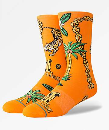 Stance x MIGOS Culture II Orange Crew Socks