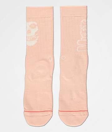 Stance x Misfits Pink Crew Socks