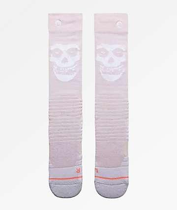 Stance x Misfits Pink Snowboard Socks