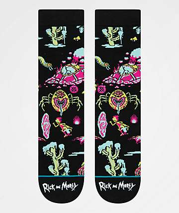 Stance x Rick and Morty Crash Landing Crew Socks