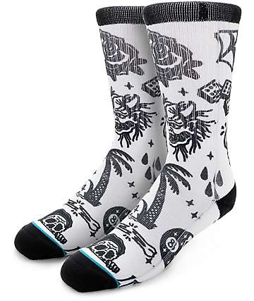 Stance x Sketchy Tank Greed Kills Crew Socks