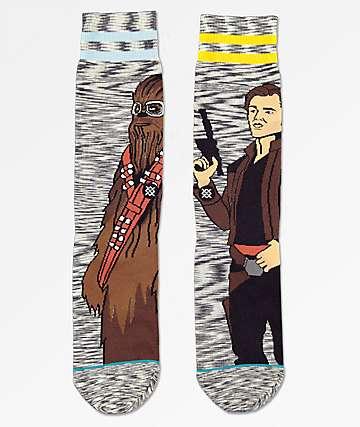 Stance x Star Wars Kessel Run Grey Crew Socks