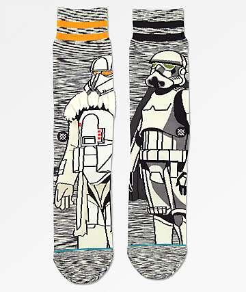Stance x Star Wars Solid Trooper Heather Black Crew Socks