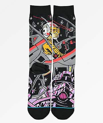 Stance x Star Wars Warped Pilot Black Crew Socks