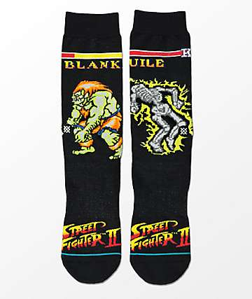 Stance x Street Fighter II Guile Vs. Blanka Crew Socks