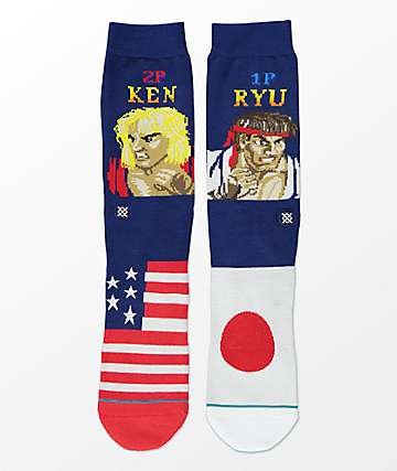 Stance x Street Fighter Ryu Vs. Ken Crew Socks