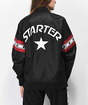 Starter Black Bomber Coaches Jacket