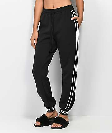 Starter Black Side Vent Jogger Sweatpants