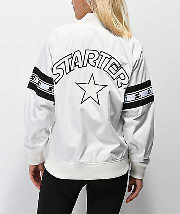 Starter Coaches White Bomber Jacket