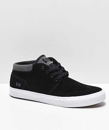 State Albany zapatos de skate de ante negro y gris