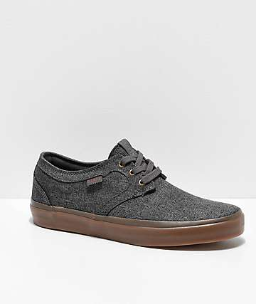 State Bishop Dark Grey Chambray & Gum Skate Shoes