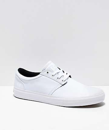 State Elgin Bone White Canvas Skate Shoes