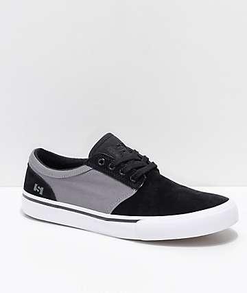 State Elgin zapatos de skate de lienzo y ante en negro y estaño