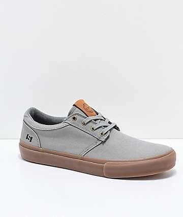 State Elgin zapatos skate de lienzo gris y goma