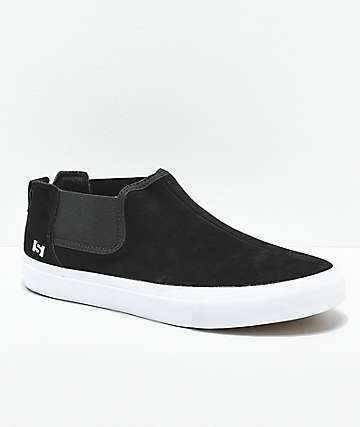 State Felton Black & White Suede Skate Shoes