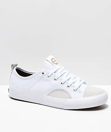 State Harlem White & Bone Skate Shoes