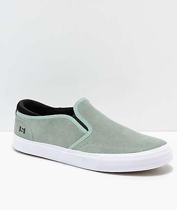State Keys zapatos de skate de ante en color menta y blanco