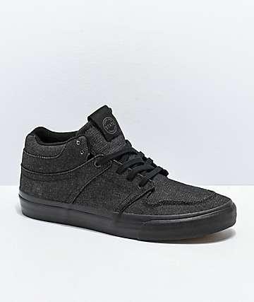 dc49a7df30 State Mercer All Black Denim Skate Shoes