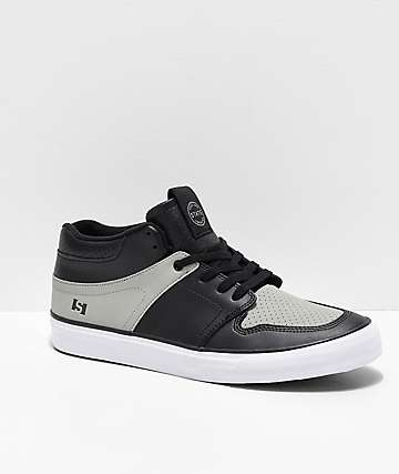 State Mercer Black, Grey & White Skate Shoes