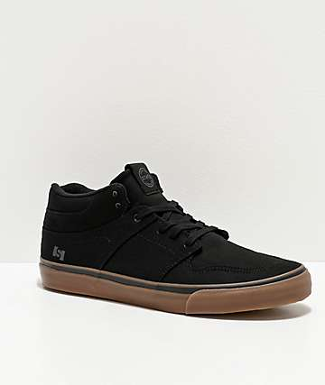 State Mercer Black & Gum Canvas Skate Shoes