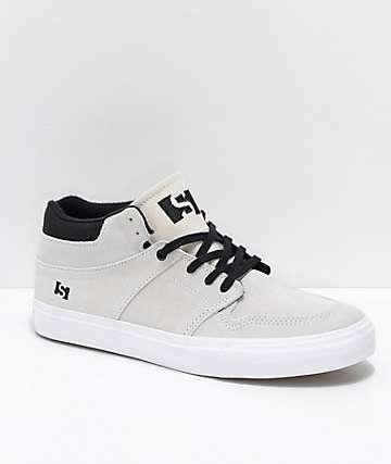 State Mercer Bone zapatos de skate de ante en blanco y negro
