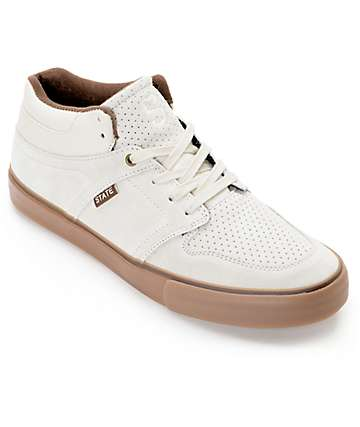 State Mercer Cream & Gum Skate Shoes