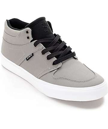 State Mercer Grey & Black Canvas Skate Shoes