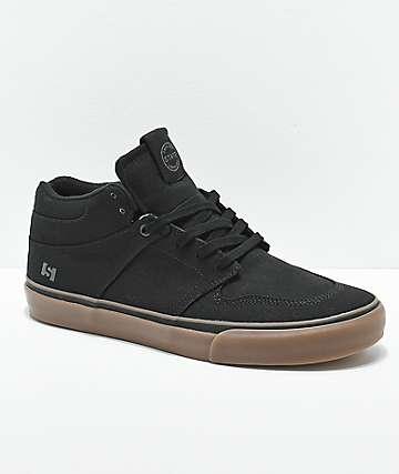 State Mercer zapatos de skate de goma y lienzo negro