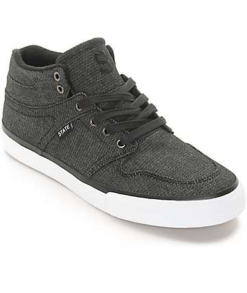 State Mercer zapatos de skate de mezclilla negra