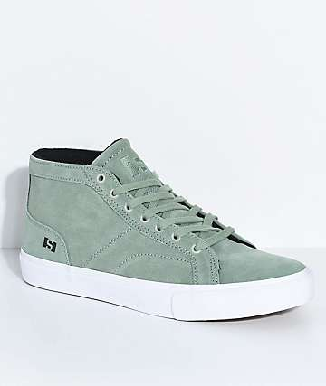 State Salem Mint & White Suede Skate Shoes
