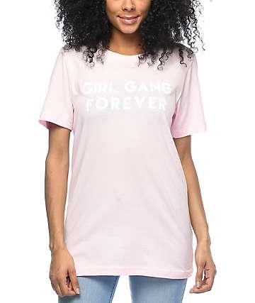 Stay Cute Girl Gang 4 Ever camiseta rosa