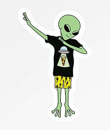 Stickie Bandits Alien Dab Sticker