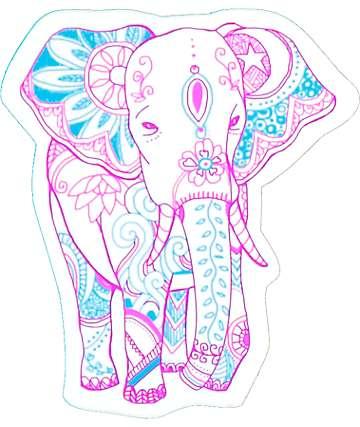 Stickie Bandits Bohemian Elephant Sticker