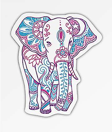 Stickie Bandits Boho Elephant Sticker