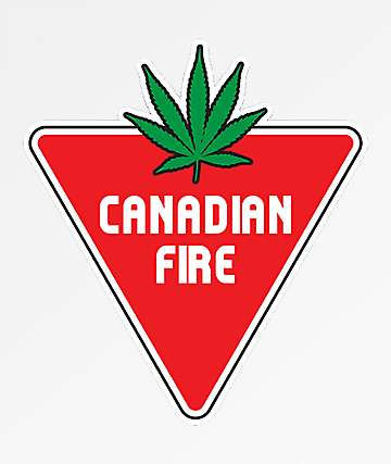 Stickie Bandits Canadian Fire Sticker