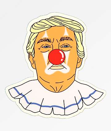 Stickie Bandits Donald Clown Sticker