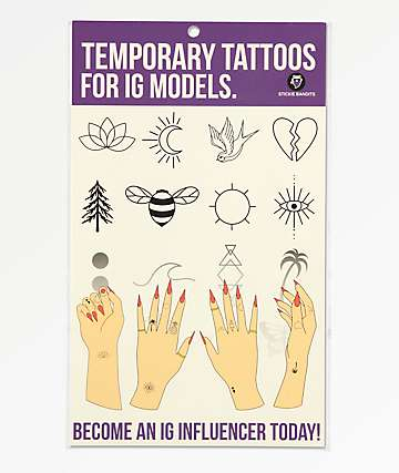 Stickie Bandits For IG Models Temporary Tattoos