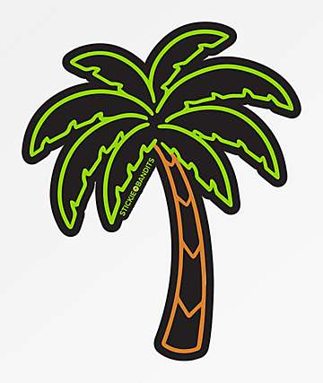 Stickie Bandits Neon Palm Sticker