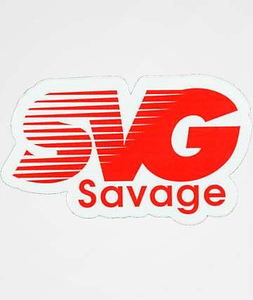 Stickie Bandits SVG pegatina roja