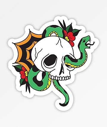 Stickie Bandits Snake Skull Sticker