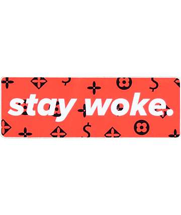 Stickie Bandits Stay Woke LV pegatina