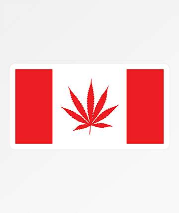 Stickie Bandits Weed Flag Sticker