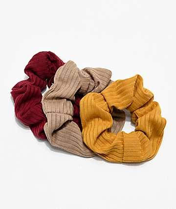 Stone + Locket Autumn 3 Pack Scrunchies